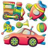 De Inzameling van het Speelgoed van het vervoer Stock Afbeeldingen