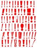 De Inzameling van het Teken van de uitroep Royalty-vrije Illustratie