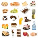 De inzameling van het voedsel stock fotografie