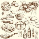 De inzameling van het voedsel stock illustratie