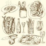 De inzameling van het voedsel vector illustratie