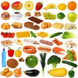 De inzameling van het voedsel Stock Afbeeldingen
