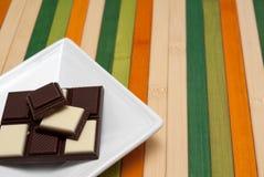 De inzameling van het voedsel - Zwart-witte chocolade Royalty-vrije Stock Foto's