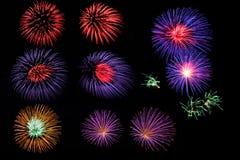 De inzameling van het vuurwerk. Royalty-vrije Stock Fotografie