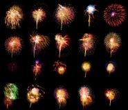 De inzameling van het vuurwerk Royalty-vrije Stock Afbeeldingen