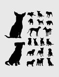 De Inzameling van hondsilgouettes Stock Afbeelding