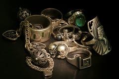 De inzameling van juwelen stock foto