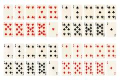 De inzameling van kaarten royalty-vrije stock afbeeldingen