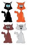 Katteninzameling - vector Royalty-vrije Stock Foto's