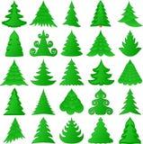De inzameling van kerstbomen Stock Afbeelding