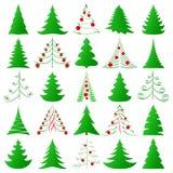 De inzameling van kerstbomen Royalty-vrije Stock Fotografie