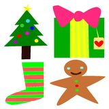 De inzameling van Kerstmis Stock Fotografie