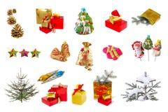 De inzameling van Kerstmis Stock Afbeeldingen