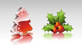 De inzameling van Kerstmis met 3d elementen. Royalty-vrije Stock Fotografie