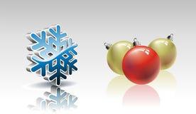 De inzameling van Kerstmis met 3d elementen. Royalty-vrije Stock Afbeelding