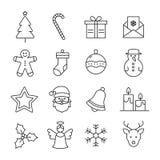 De Inzameling van Kerstmispictogrammen royalty-vrije illustratie