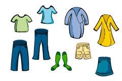 De Inzameling van kleren Stock Foto's