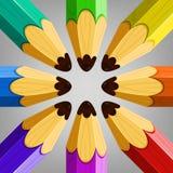 De Inzameling van kleurenpotloden Royalty-vrije Stock Foto's