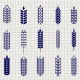 De inzameling van korreloren op notitieboekjepagina Stock Afbeelding
