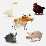 De inzameling van landbouwbedrijfdieren Stock Afbeeldingen