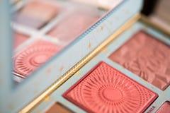 De inzameling van Make-up bloost Poeder stock fotografie