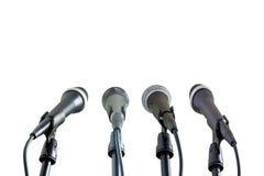 De inzameling van microfoons Stock Afbeelding