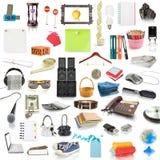 De inzameling van objecten Stock Afbeelding