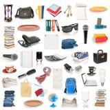 De inzameling van objecten Stock Afbeeldingen