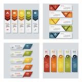 De inzameling van 4 ontwerpt kleurrijke presentatiemalplaatjes Het kan voor prestaties van het ontwerpwerk noodzakelijk zijn Royalty-vrije Stock Foto's