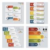 De inzameling van 4 ontwerpt kleurrijke presentatiemalplaatjes Het kan voor prestaties van het ontwerpwerk noodzakelijk zijn Stock Foto's