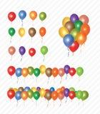 De Inzameling van partijballons Stock Fotografie