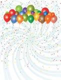 De Inzameling van partijballons Stock Afbeeldingen