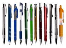 De inzameling van pennen royalty-vrije stock afbeelding