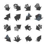 De inzameling van pijlenpictogrammen Stock Foto's