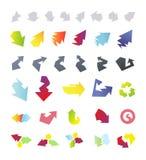 De inzameling van pijlenpictogrammen Royalty-vrije Stock Afbeeldingen