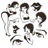De inzameling van Pinupmeisjes vector illustratie