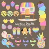 De Inzameling van de regenboogkrabbel royalty-vrije illustratie
