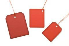 De inzameling van rood etiketteert prijs Royalty-vrije Stock Foto