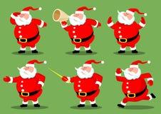 De inzameling van Santas Stock Foto