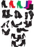 De inzameling van schoenen Stock Foto's