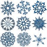 De inzameling van sneeuwvlokken Stock Afbeelding