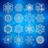 De inzameling van sneeuwvlokken stock illustratie