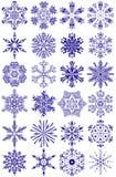 De inzameling van sneeuwvlokken Royalty-vrije Stock Foto's