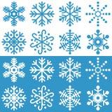 De Inzameling van sneeuwvlokken Stock Afbeeldingen
