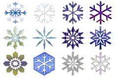 De inzameling van sneeuwvlokken #3 vector illustratie