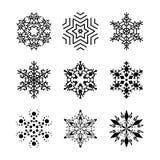 De inzameling van sneeuwvlokken Royalty-vrije Stock Foto