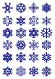 De inzameling van sneeuwvlokken Stock Foto's