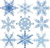 De inzameling van sneeuwvlokken vector illustratie