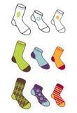 De inzameling van sokken Royalty-vrije Stock Afbeeldingen