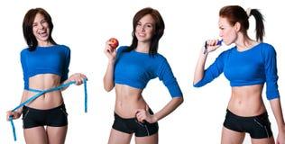 De inzameling van sportenvrouwen stock afbeeldingen